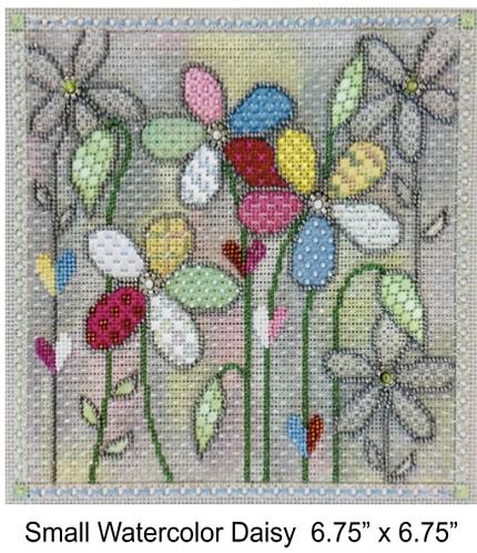 Sew Much Fun Small Watercolor Daisy
