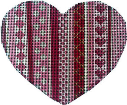 AT HE1005 Vertical Patterns Heart - Large