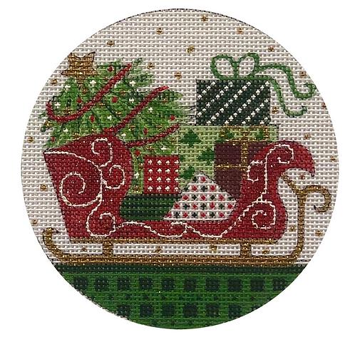x379 Santa Sleigh Ornament