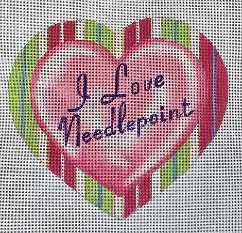 Raymond Crawford I Love Needlepoint Heart - 18 mesh