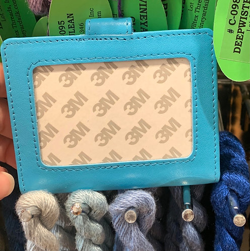 Aqua Blue Snap Wallet (Takes 2x3 Insert)