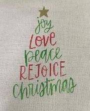 PP1003 Christmas Words Tree 18 mesh