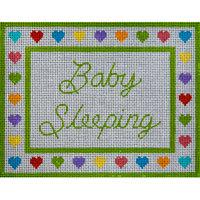 JP Needlepoint Q71 Baby Sleeping with Hearts