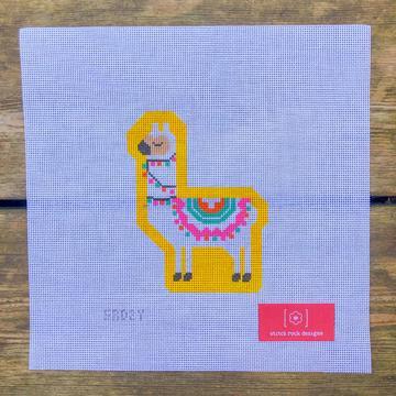 Stitch Rock Designs Yellow Llama