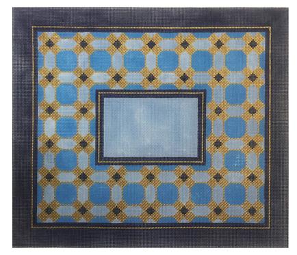 EA107 Blue Geometric II Tallis