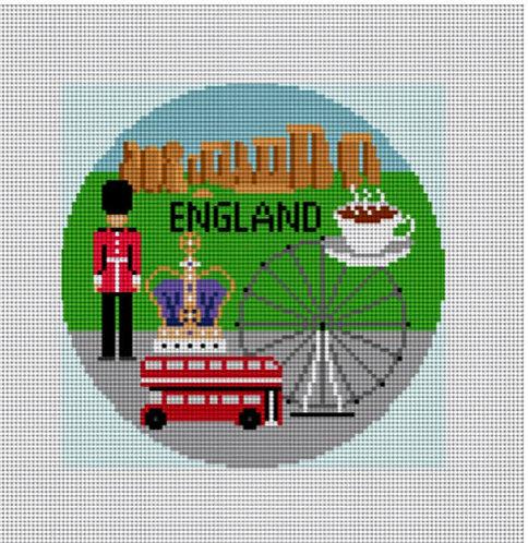 Needlepaint Handpainted England Ornament