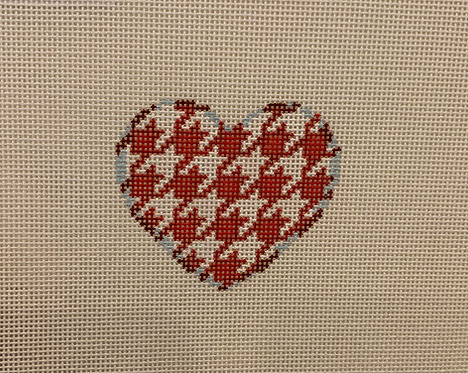 AT HE64RP Red/Pink Houndstooth Mini Heart