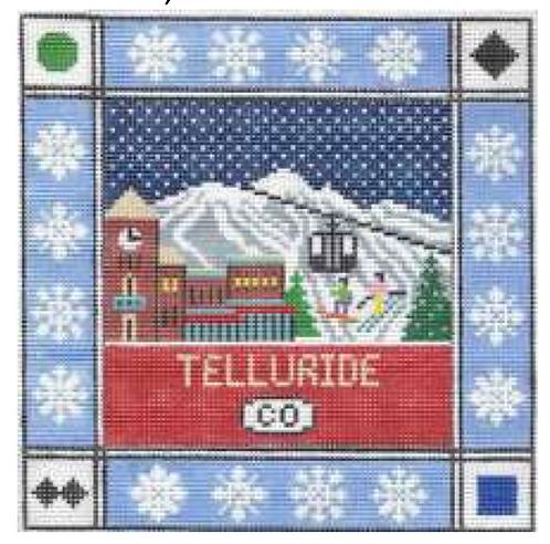 Doolittle Ski Squares 13 mesh Telluride