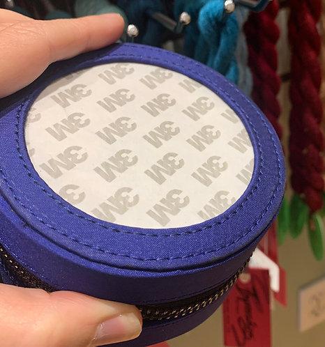 "Deep Blue Silk Jewelry case for 3"" insert"