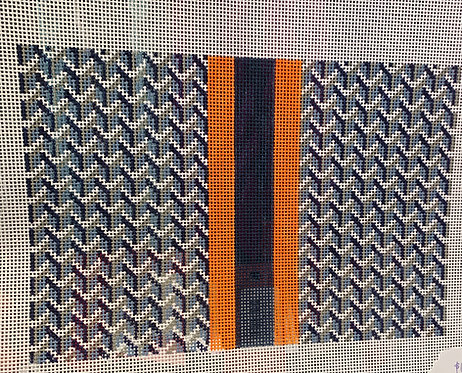Anne Fisher Blue Y Pattern 14 mesh Clutch