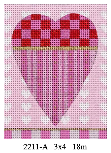 Melissa Shirley Small Heart 2211-A Striped