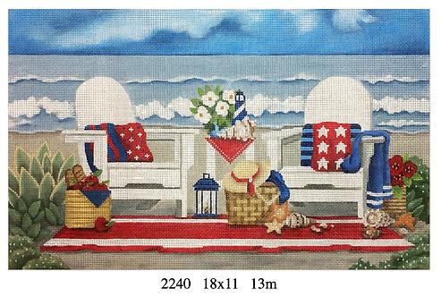 Melissa Shirley 2240 Red, White & Blue Beach