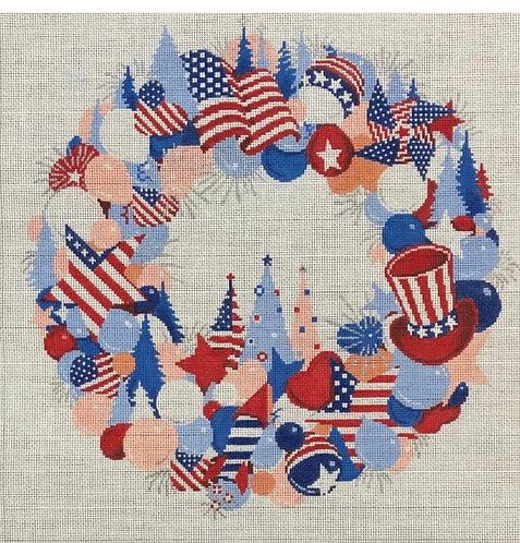 ASIT Patriotic Wreath 18 mesh