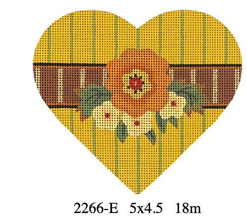 Melissa Shirley 2266-E Autumn Hearts - Orange Flower
