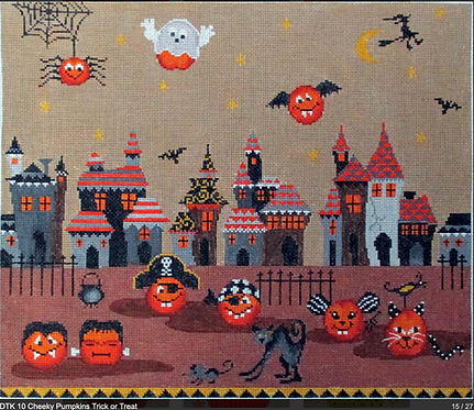 Tapestry Fair DTK10 Cheeky Pumpkins Trick or Treat