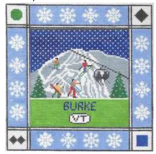 Doolittle Ski Squares 13 mesh Burke