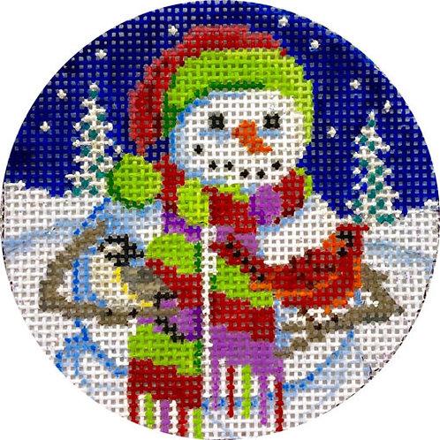 Snowman in Scarf  Alice Peterson X427