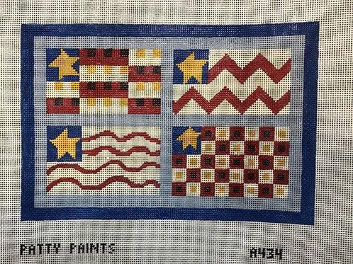 Patty Paints A434 Four Flags 10.75x7.25 13 mesh