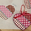 Thumbnail: AT HE1001 Woven/Houndstooth/Dot Heart - Large