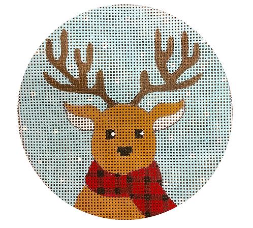 x428 Reindeer in Scarf Ornament