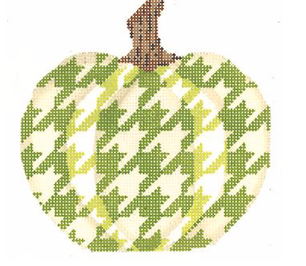 Kelly Clark KCN1561 Ivory and Green Houndstooth Pumpkin