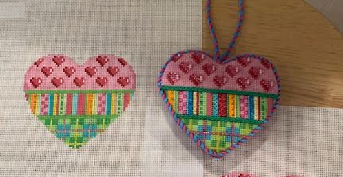 AT HE807 Hearts/Stripes/Plaid  Heart
