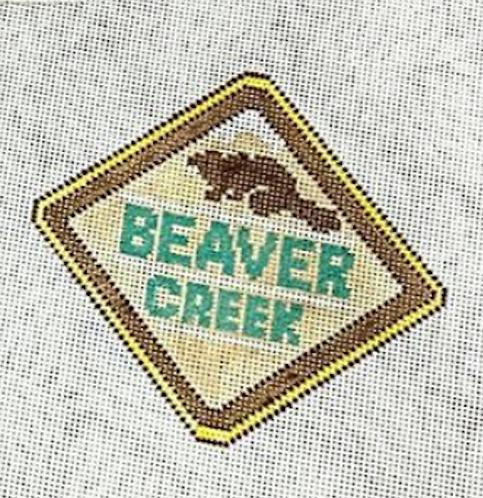 Poppys Needlepoint Vintage Beaver Creek Patch