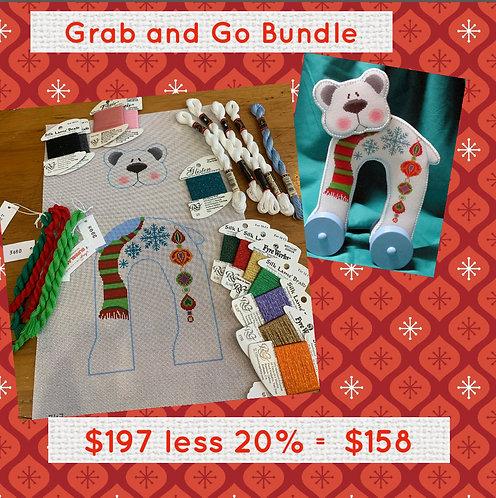 Grab and Go Tapestry Fair Polar Bear Standup Bundle