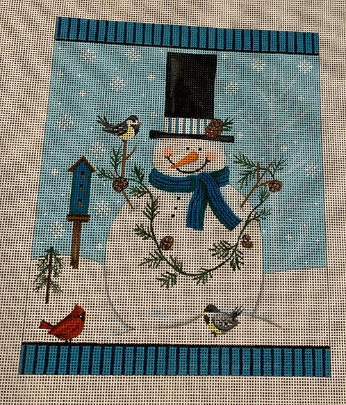 Diane Kater DKSN13 I Love Birds Snowman