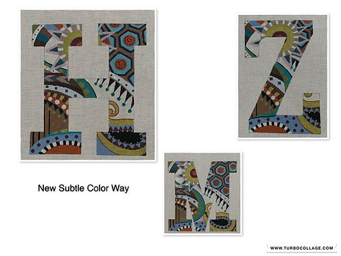 """Colors of Praise 6"""" Letters on 18 mesh - Subtle Colors"""