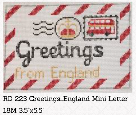 Rachel Donley Small Letter-  Greetings from England