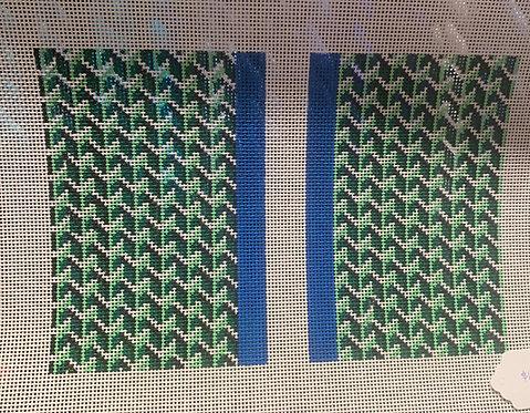 Anne Fisher Green Y Pattern 14 mesh Clutch