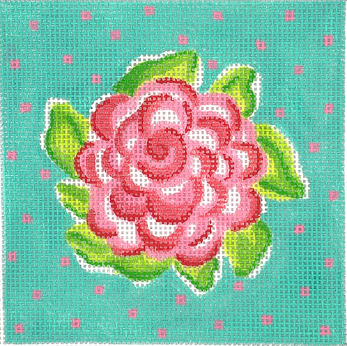 """Kate Dickerson INSSQ4-50 Lily Inspired Rose 4x4"""" Square"""