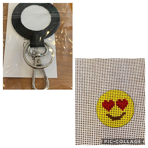 Planet Earth Key Fob and smiley face insert