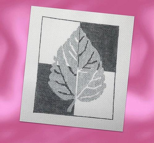 Judy Tasch Needlepoint Silver Leaf