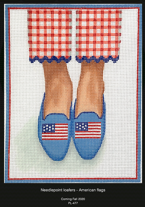 Kate Dickerson PL-477 American Flag Loafers