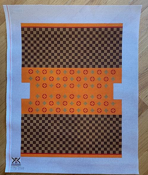 TB-05A Louis Squares Orange- 13 mesh
