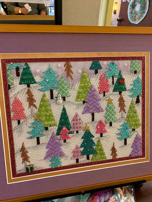 Grab and Go Bundle Renaissance Trees, Stitch Guide, Threads & Embellishments