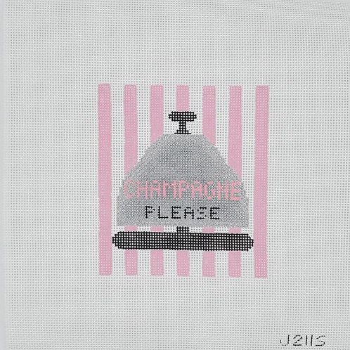 Silver Stitch Needlepoint Champagne Please Bell