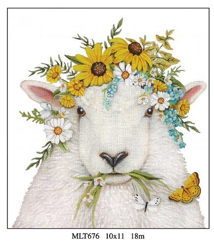 Melissa Shirley MLT676 Flower Sheep