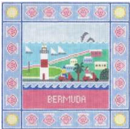 Doolittle Destination Squares 13 mesh Bermuda