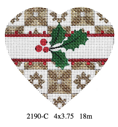 Melissa Shirley 2190 C Holly Heart -Floral Square