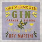 Jen Laine Designs Gin Martini Lemon Twist JLC-125HP