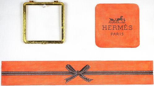BXLSQ-03 Lg. Square Hermes Wrapped Box