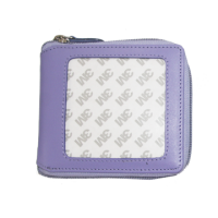 Lavender  Wallet with Zip Bill fold