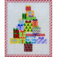 JP Needlepoint Christmas Tree of Packages X240