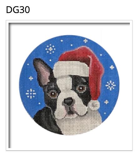 Pepperberry DG30 Boston Terrier Dog Santa