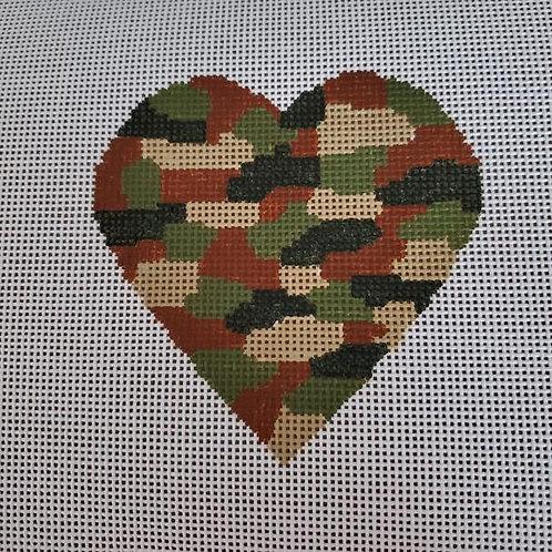 Silver Stitch Camo Heart