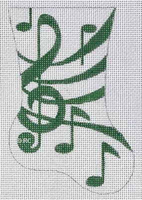 Raymond Crawford HO1993 Green Music Mini Sock