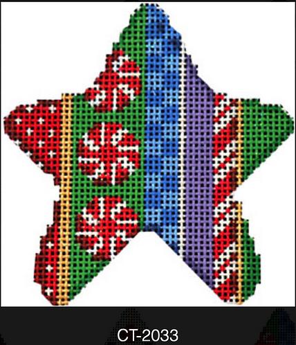 AT CT-2033 Peppermint Stripe Mini Star